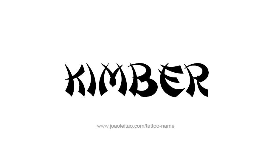 Tattoo Design Name KImber