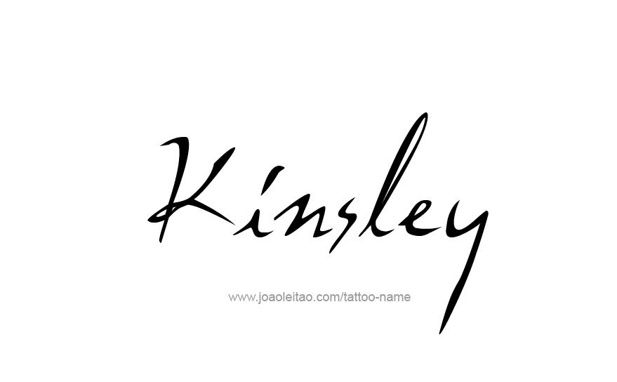 Tattoo Design Name Kinsley