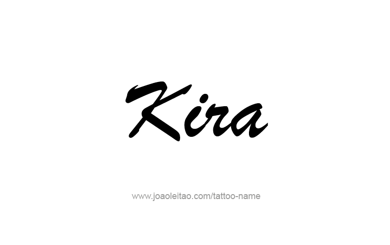 Tattoo Design Name Kira