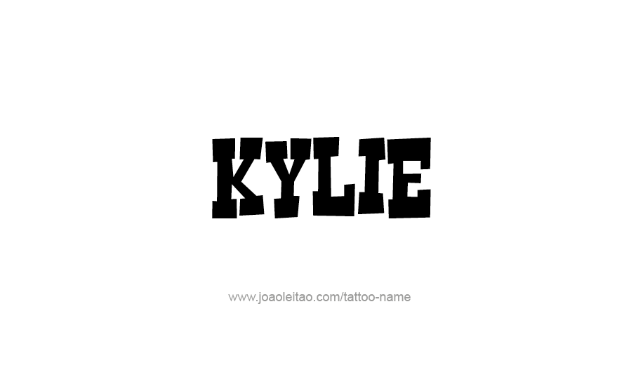 Tattoo Design Name Kylie