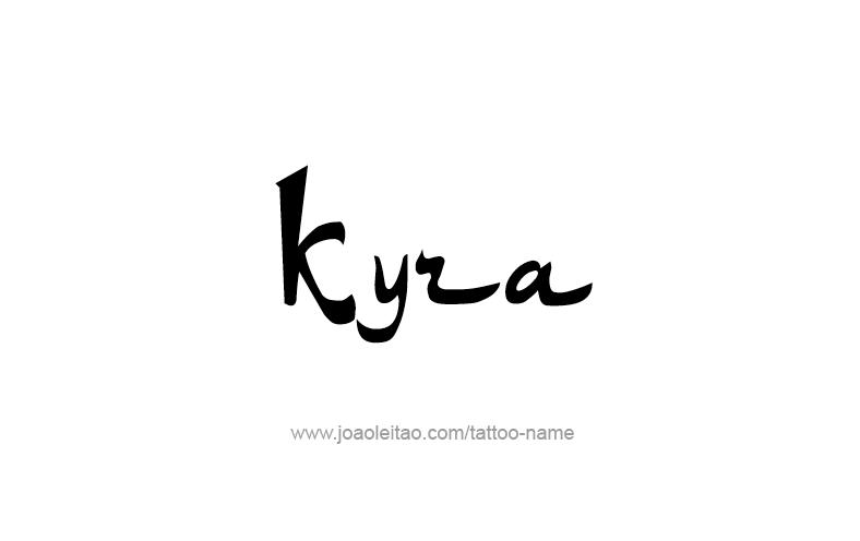 Tattoo Design Name Kyra