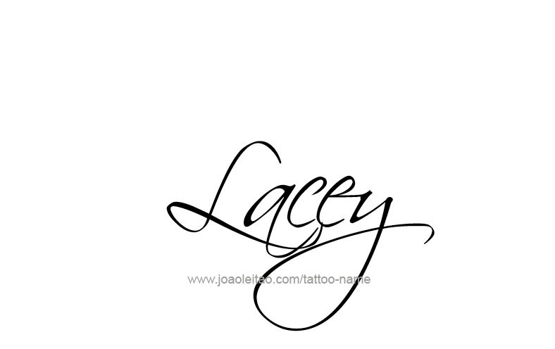Tattoo Design Name Lacey