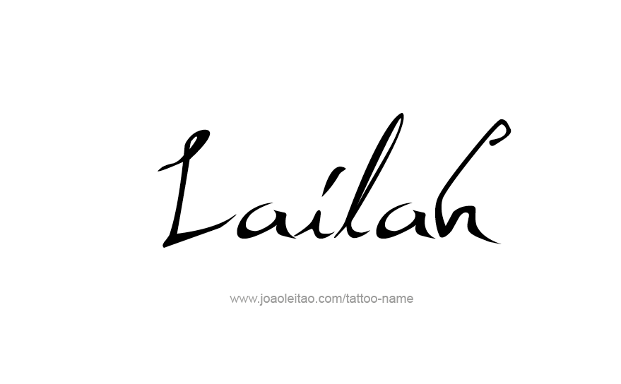 Tattoo Design Name Lailah