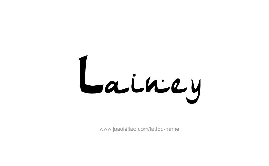 Tattoo Design Name Lainey