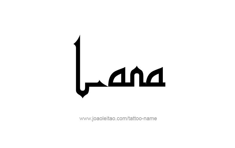 Tattoo Design Name Lana