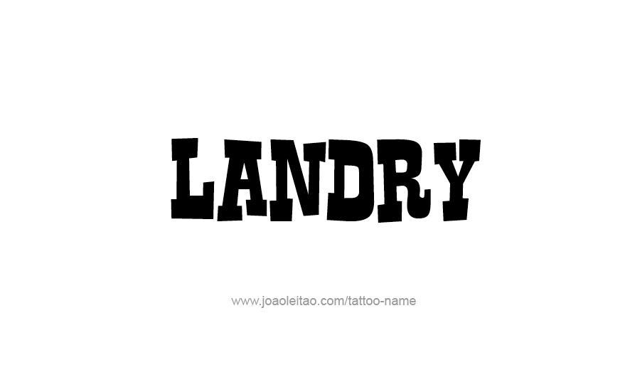 Tattoo Design Name Landry