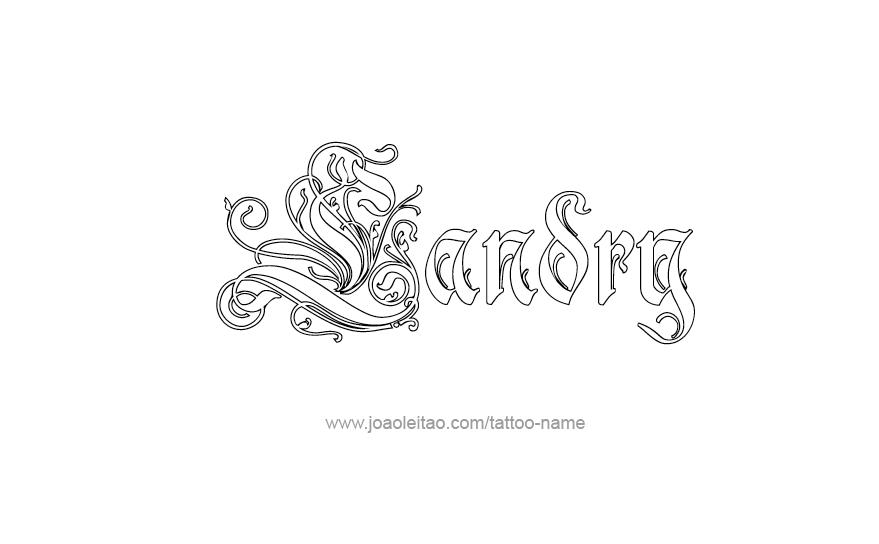 Tattoo Design Name Landry
