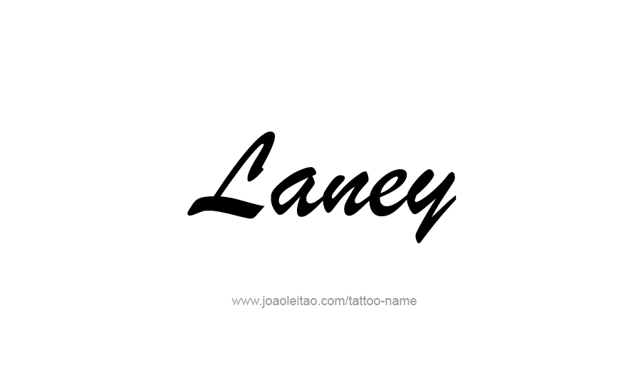 Tattoo Design Name Laney