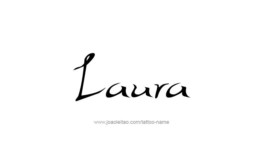 Tattoo Design Name Laura