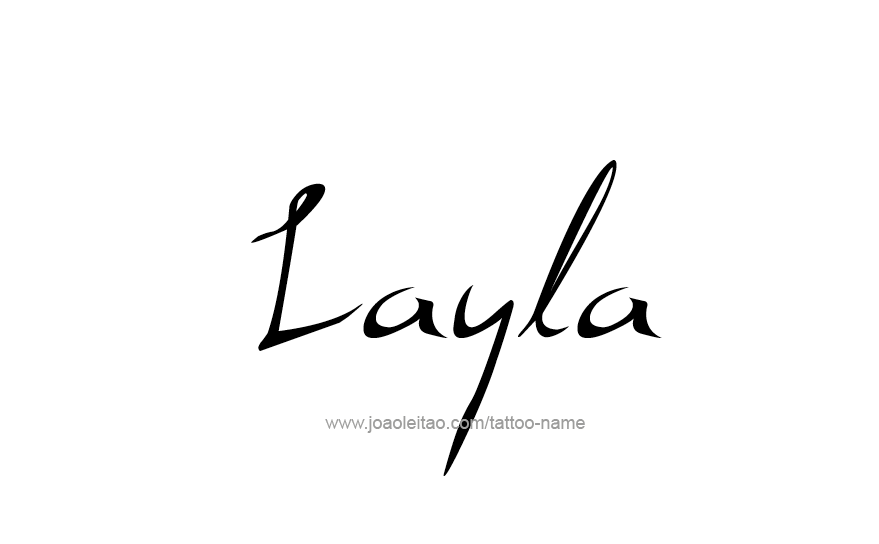 Tattoo Design Name Layla
