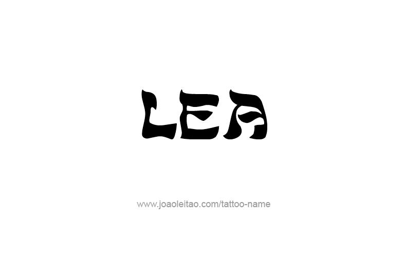 Tattoo Design Name Lea