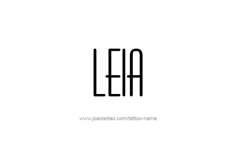 Tattoo Design Name Leia