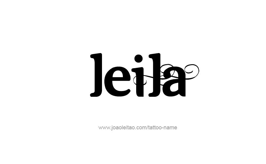 Tattoo Design Name Leila