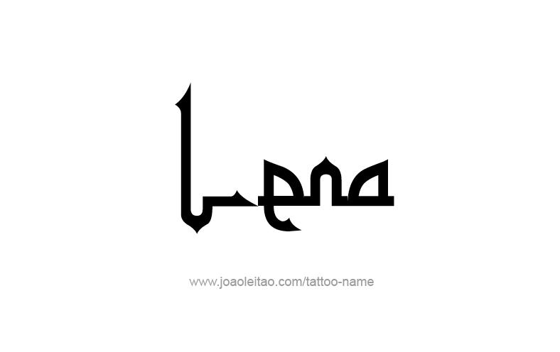 Tattoo Design Name Lena