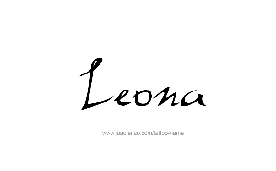 Tattoo Design Name Leona