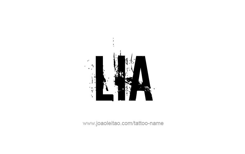 Tattoo Design Name Lia