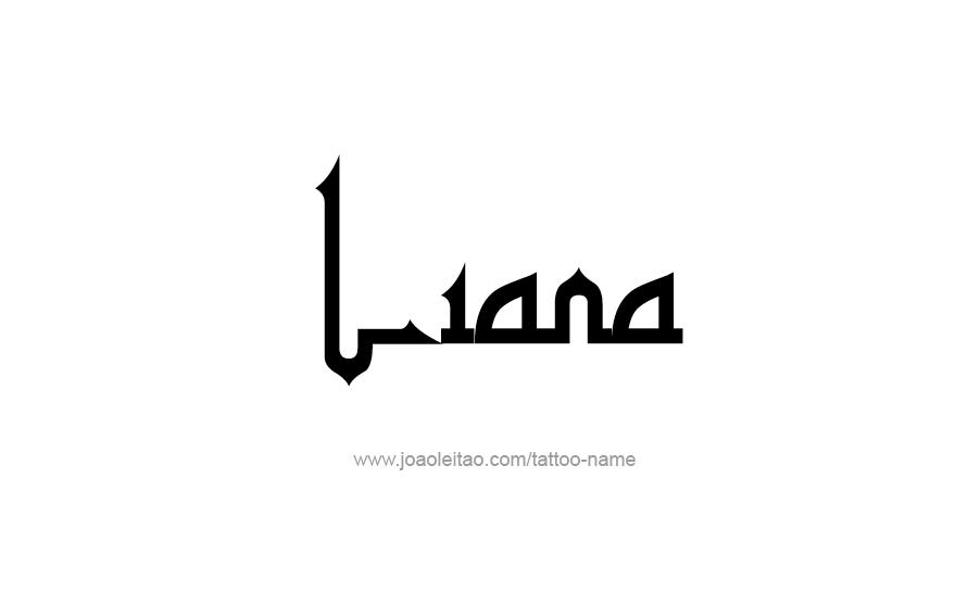 Tattoo Design Name Liana