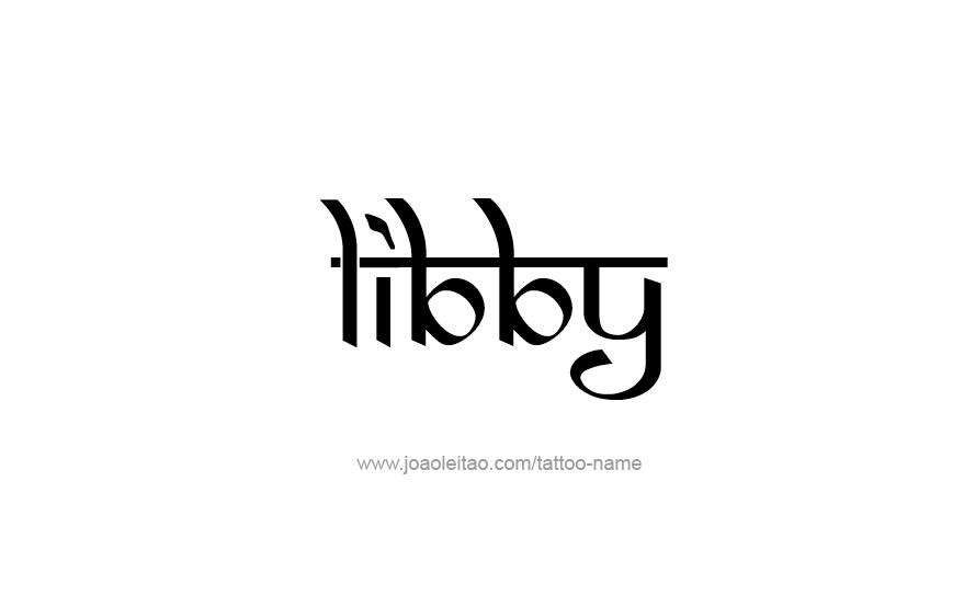 Tattoo Design Name Libby