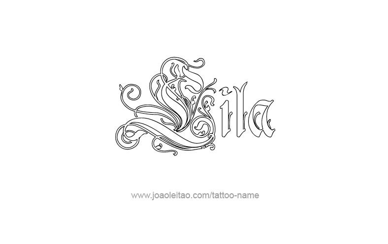 Tattoo Design Name Lila