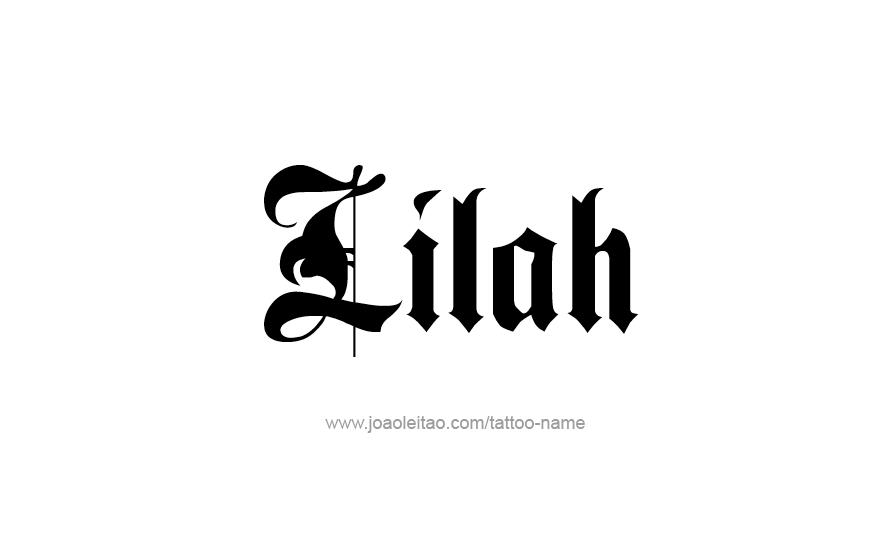 Tattoo Design Name Lilah