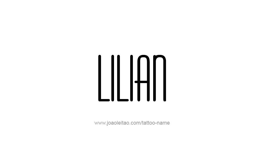 Tattoo Design Name Lilian