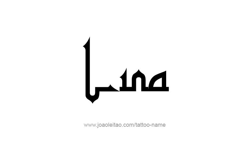 Tattoo Design Name Lina
