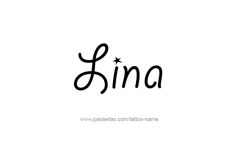 Tattoo Design Name Lina