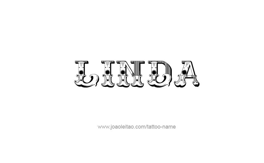Tattoo Design Name Linda