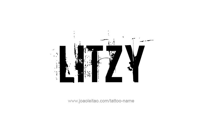 Tattoo Design Name Litzy