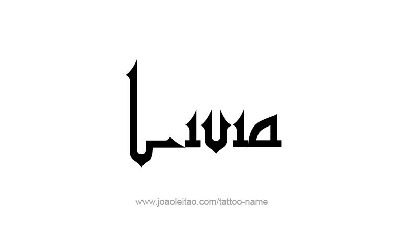 Tattoo Design Name Livia
