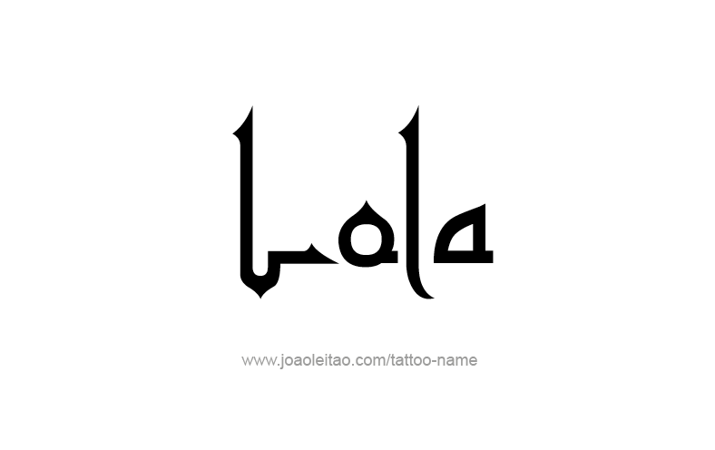 Tattoo Design Name Lola