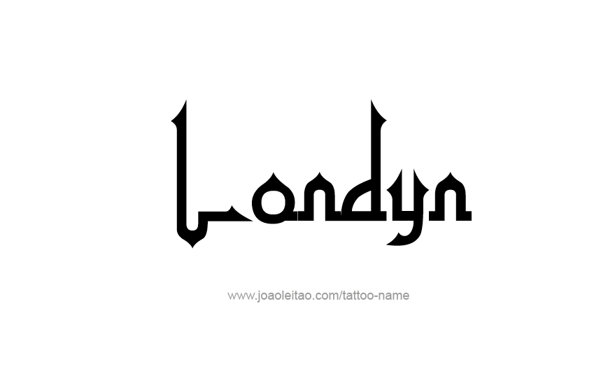 Tattoo Design Name Londyn
