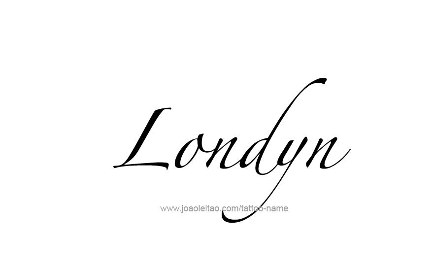 Tattoo Design Name Londyn