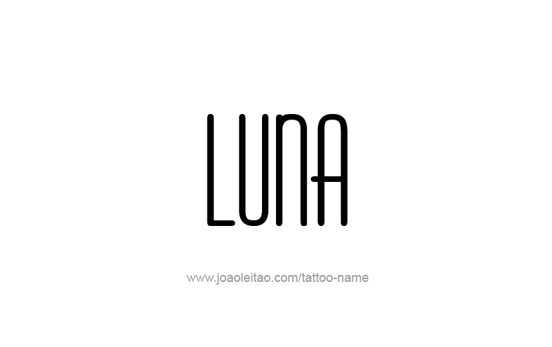 Tattoo Design Name Luna