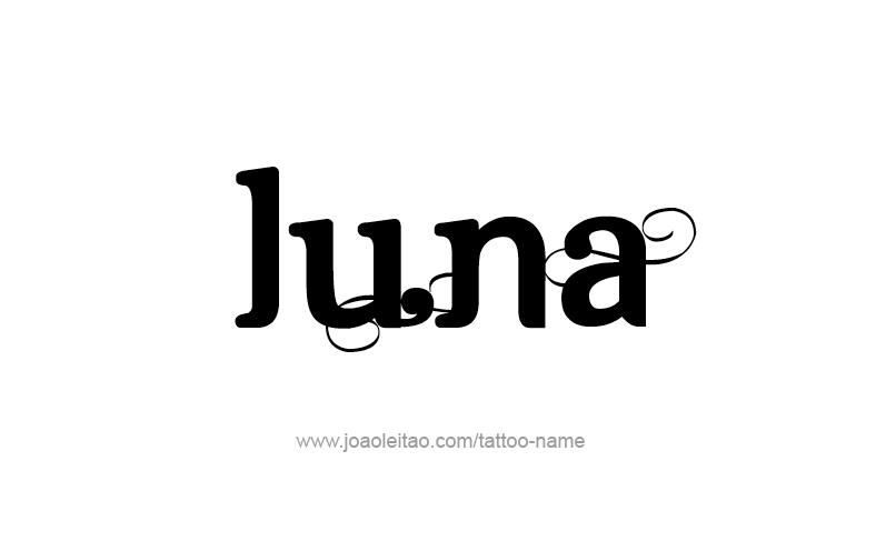 Luna Name Tattoo Designs