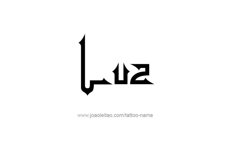 Tattoo Design Name Luz