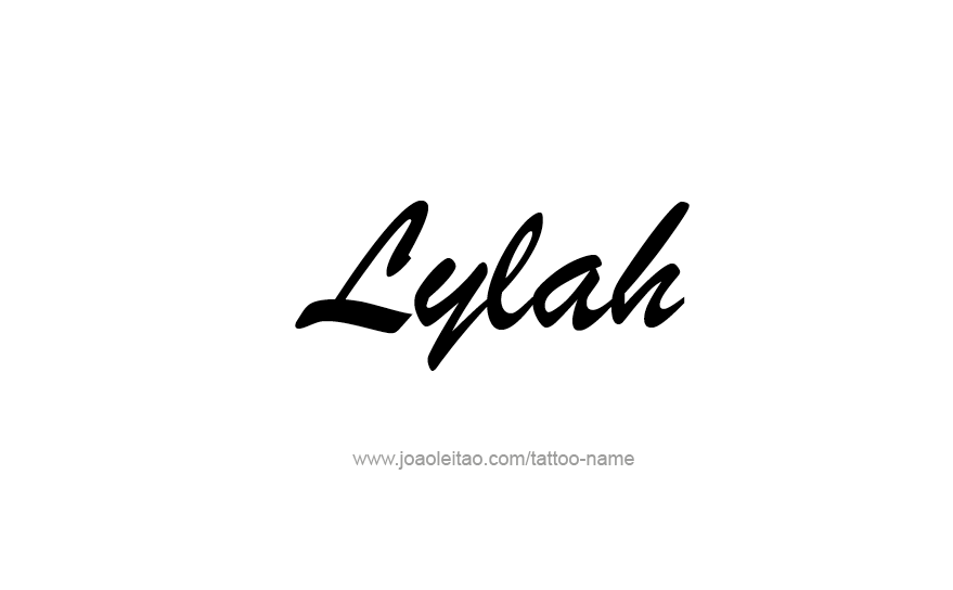 Tattoo Design Name Lylah