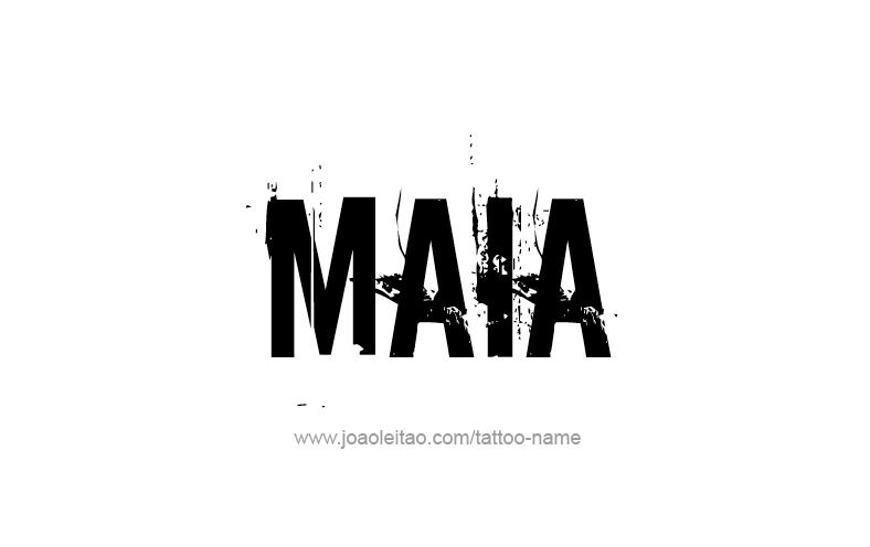 Tattoo Design Name Maia