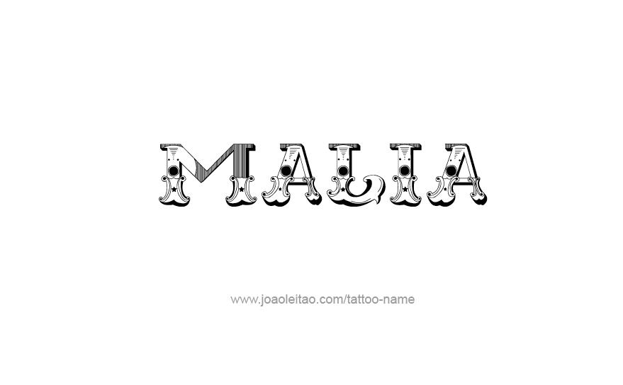 Tattoo Design Name Malia