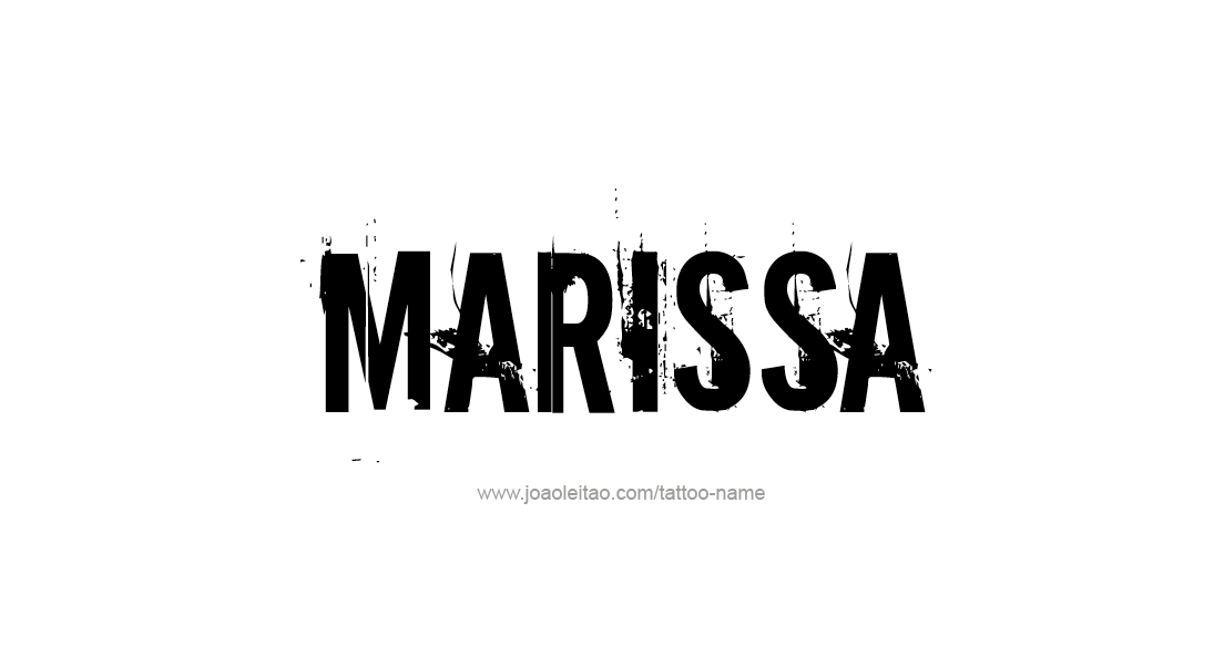 Tattoo Design Name Marissa