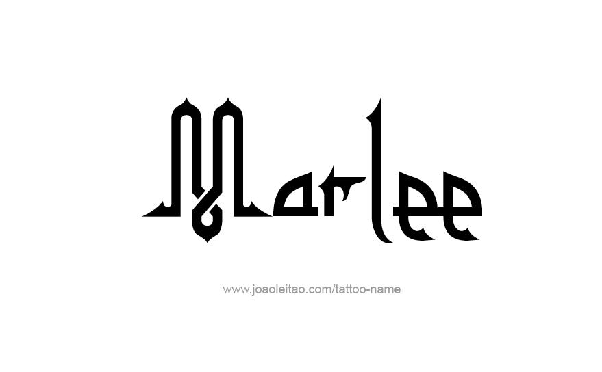 Tattoo Design Name Marlee