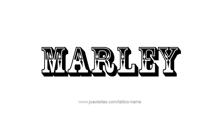 Tattoo Design Name Marley