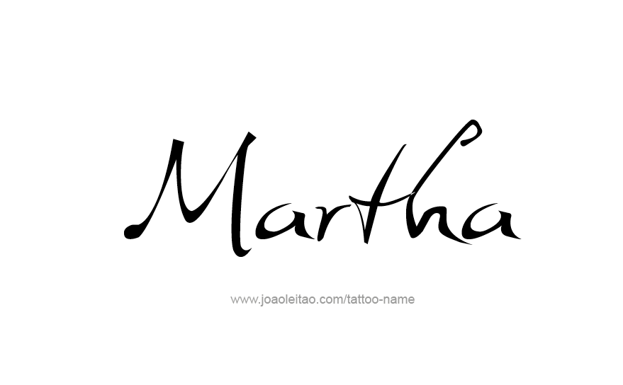 Tattoo Design Name Martha