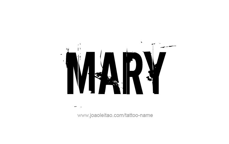 Tattoo Design Name Mary