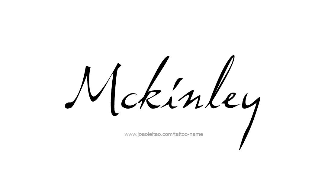 Tattoo Design Name Mckinley