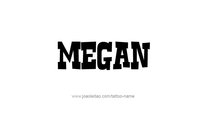 Tattoo Design Name Megan