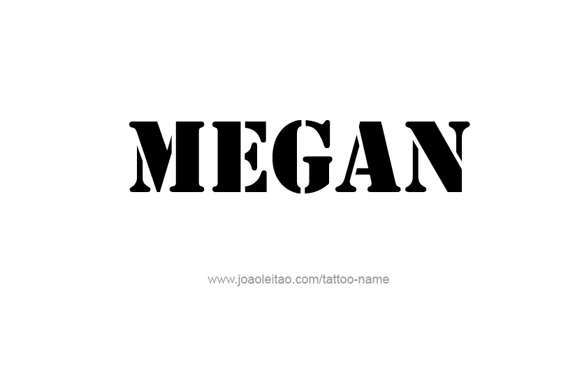Megan Name Tattoo Designs