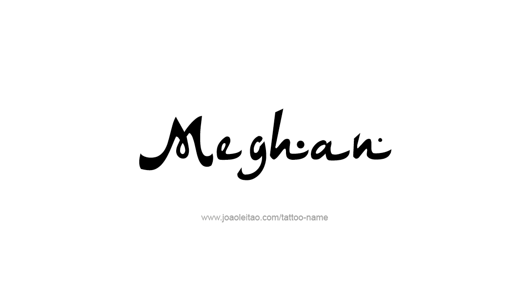 Tattoo Design Name Meghan