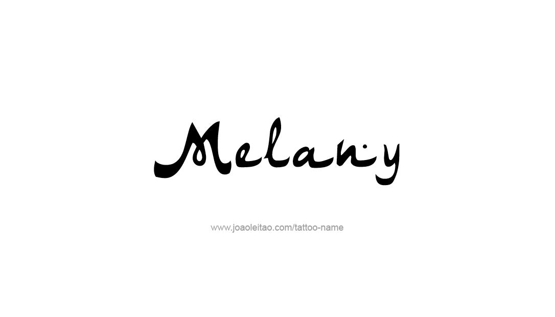 Tattoo Design Name Melany