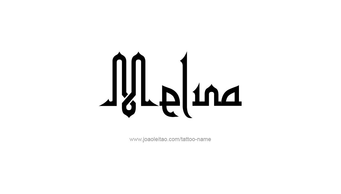 Tattoo Design Name Melina